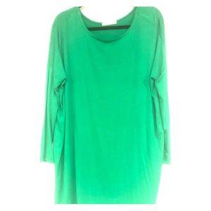 🧺 🍷 Cherish Piko Shirt ML Kelly Green Tunic